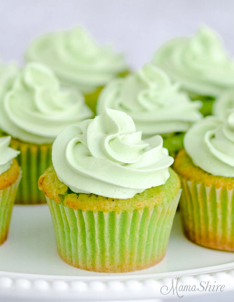 A closeup of gluten-free jello cupcakes.