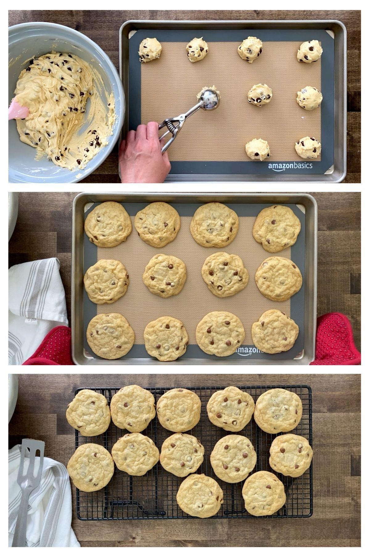 Frozen gluten-free chocolate chip cookie dough.