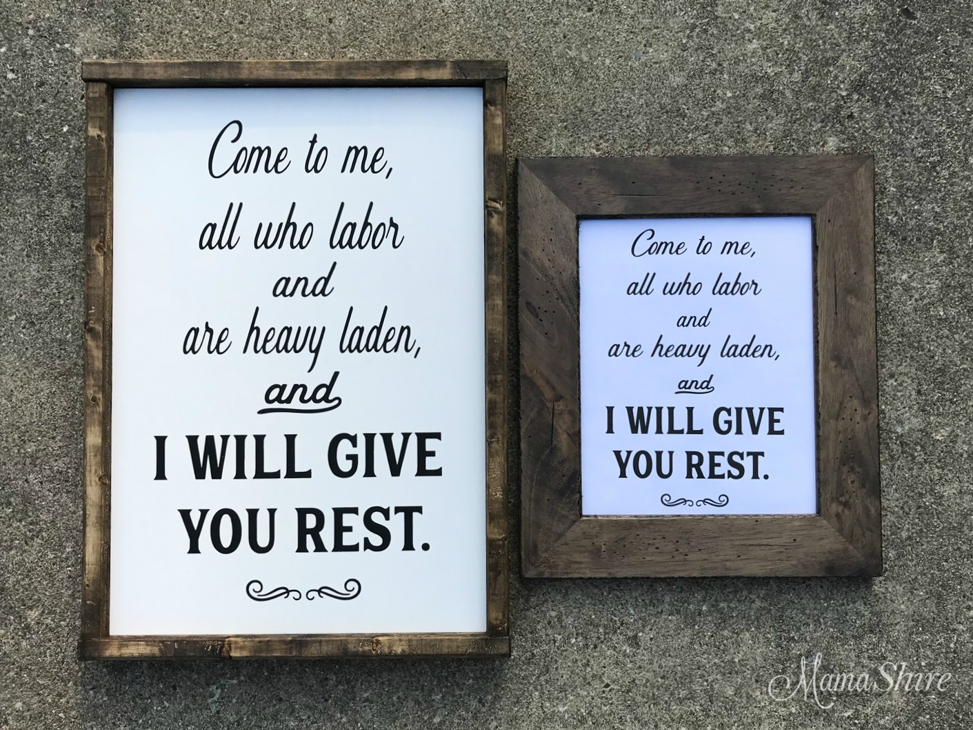 I Will Give You Rest Bible Verse SVG, DXF, Printable PDF.