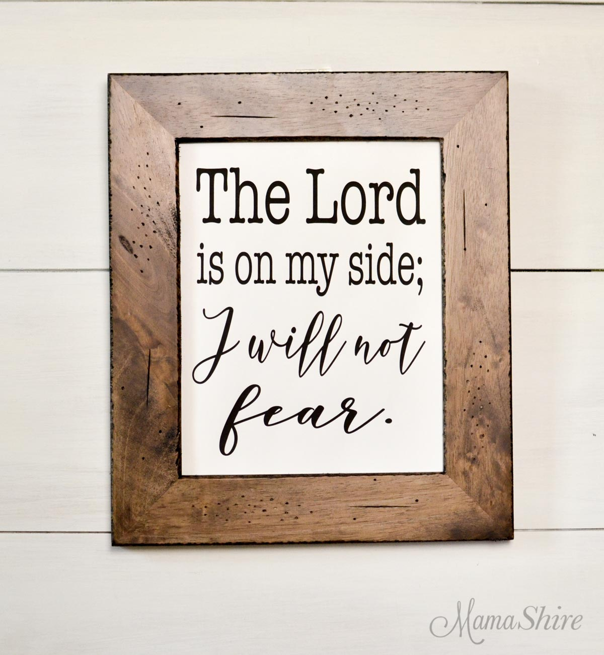Bible Verse Printable PDF and SVG cut file for I Will Not Fear.