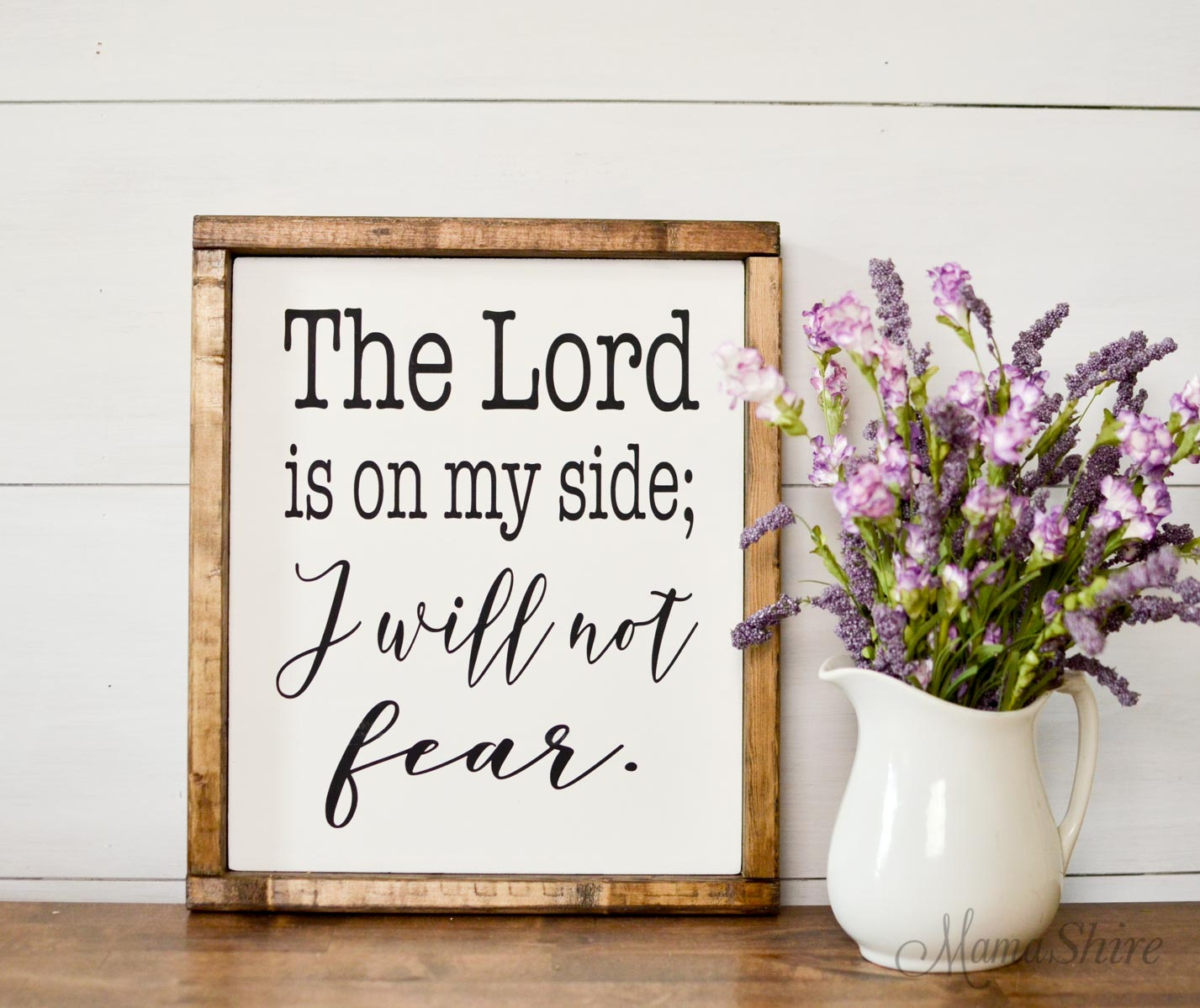 I Will Not Fear Bible Verse Printable & SVG File #4 - MamaShire