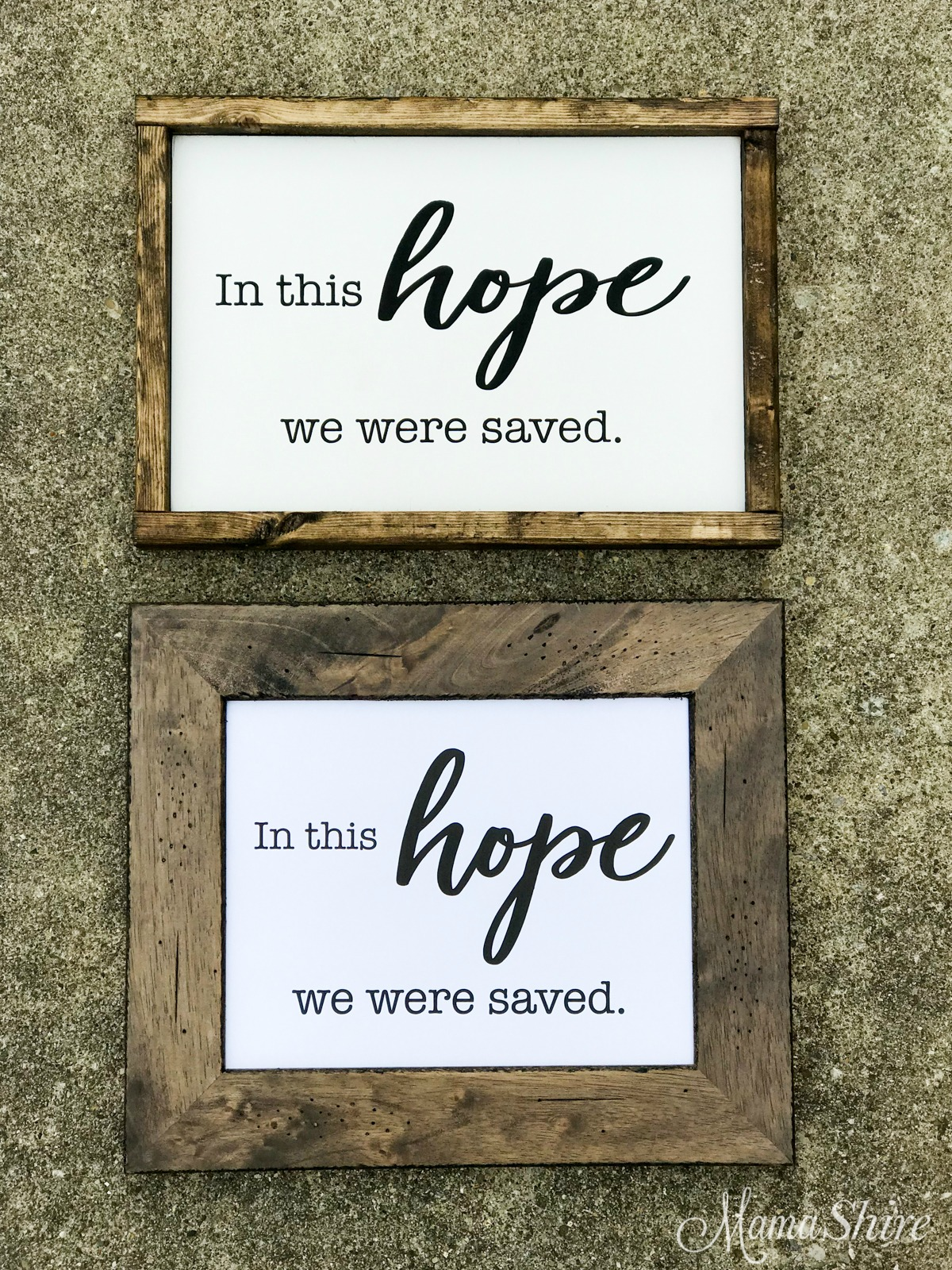 Printable PDF & SVG of In This Hope We Were Saved.