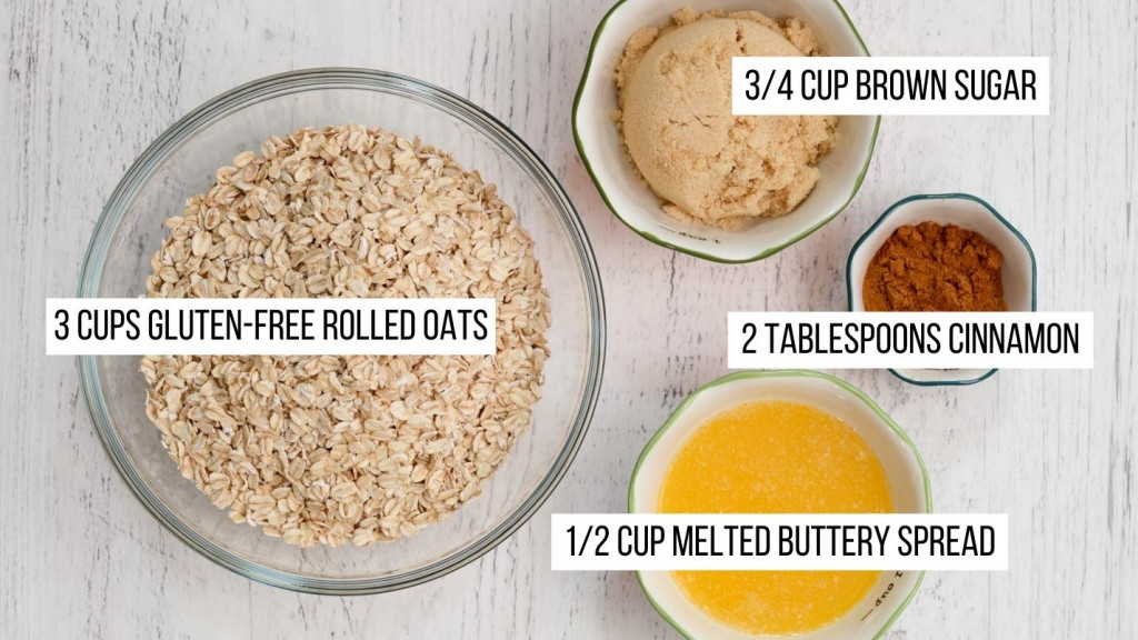 Ingredients for a very simple gluten-free granola.