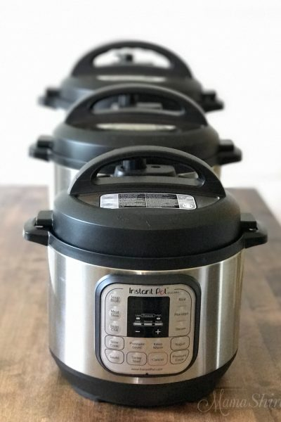 Three different sizes of Instant Pots. Comparing Instant Pots to know which size to buy.