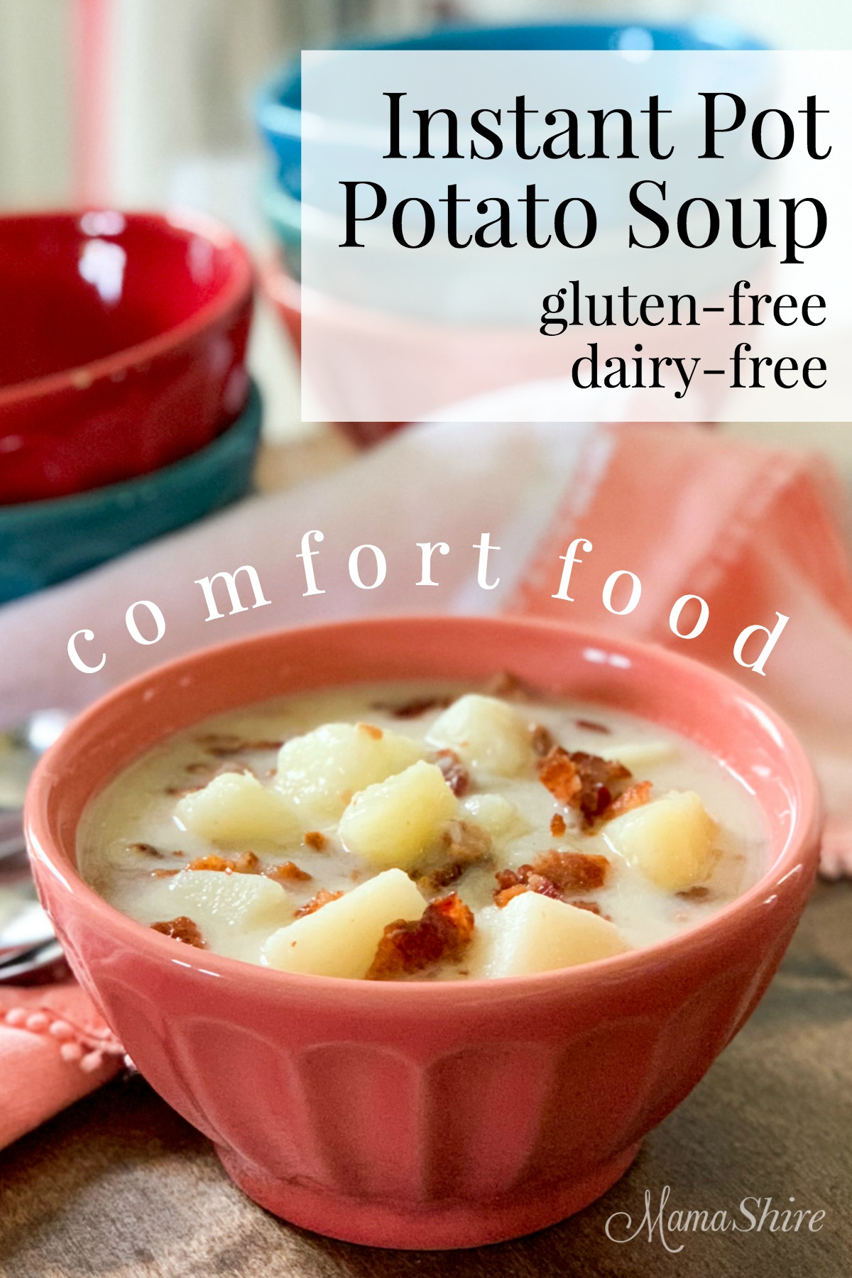 Yummy comfort food! Potato Soup made in an Instant Pot.