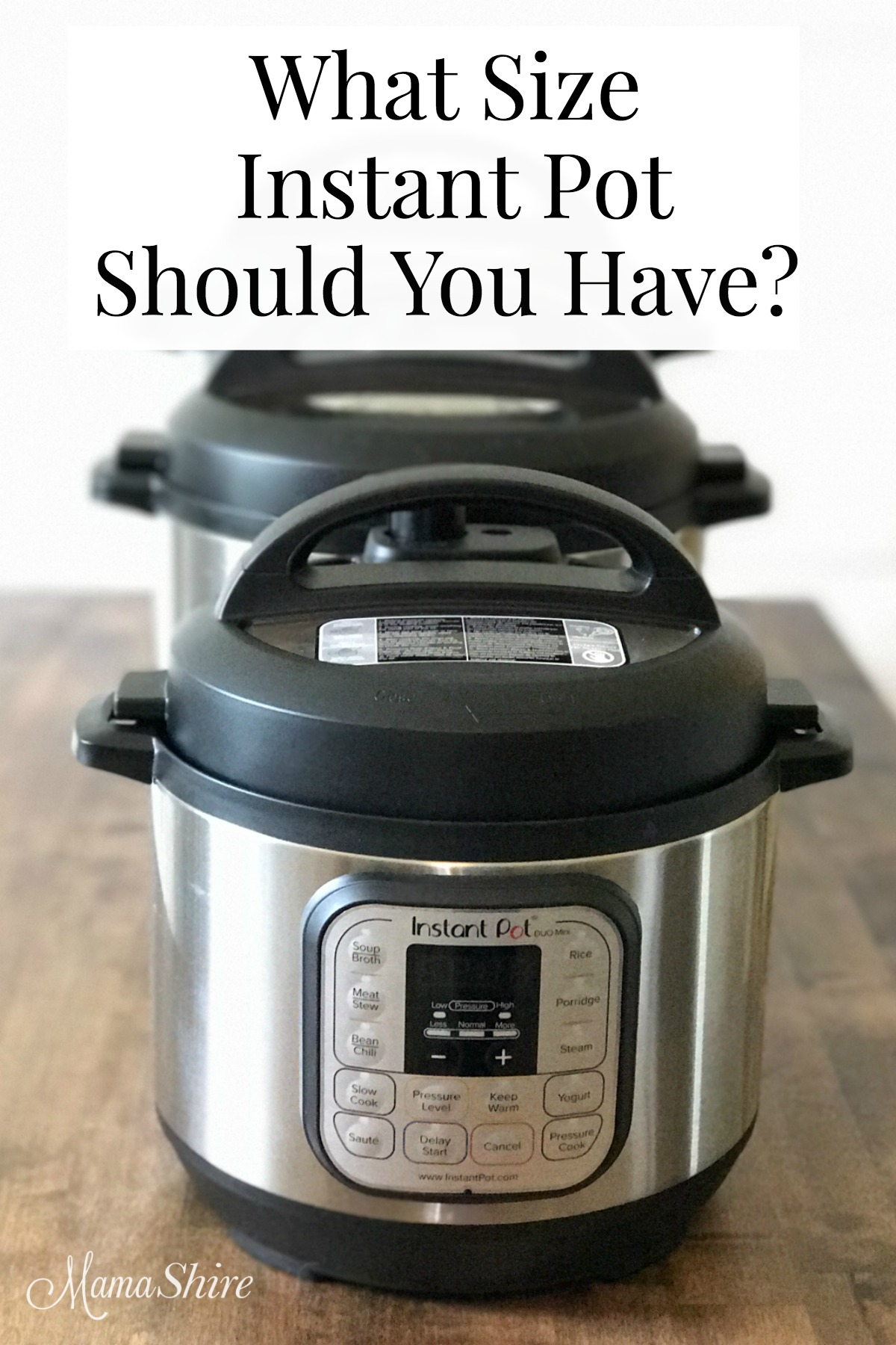 Which size Instant Pot should you have?