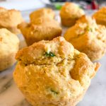 Old-fashioned cornbread muffins with jalapenos made gluten-free and dairy-free.