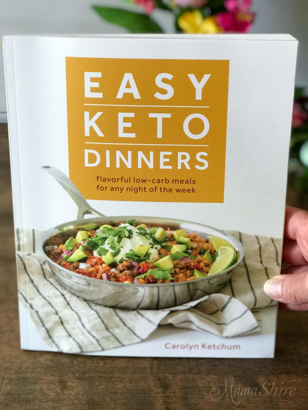 Picture of Carolyn Ketchum's cookbook, Easy Keto Dinners.