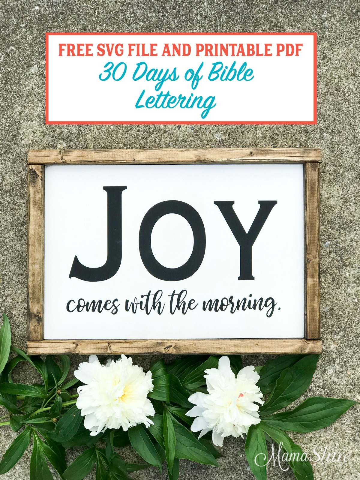 Joy Comes With The Morning Wood Sign