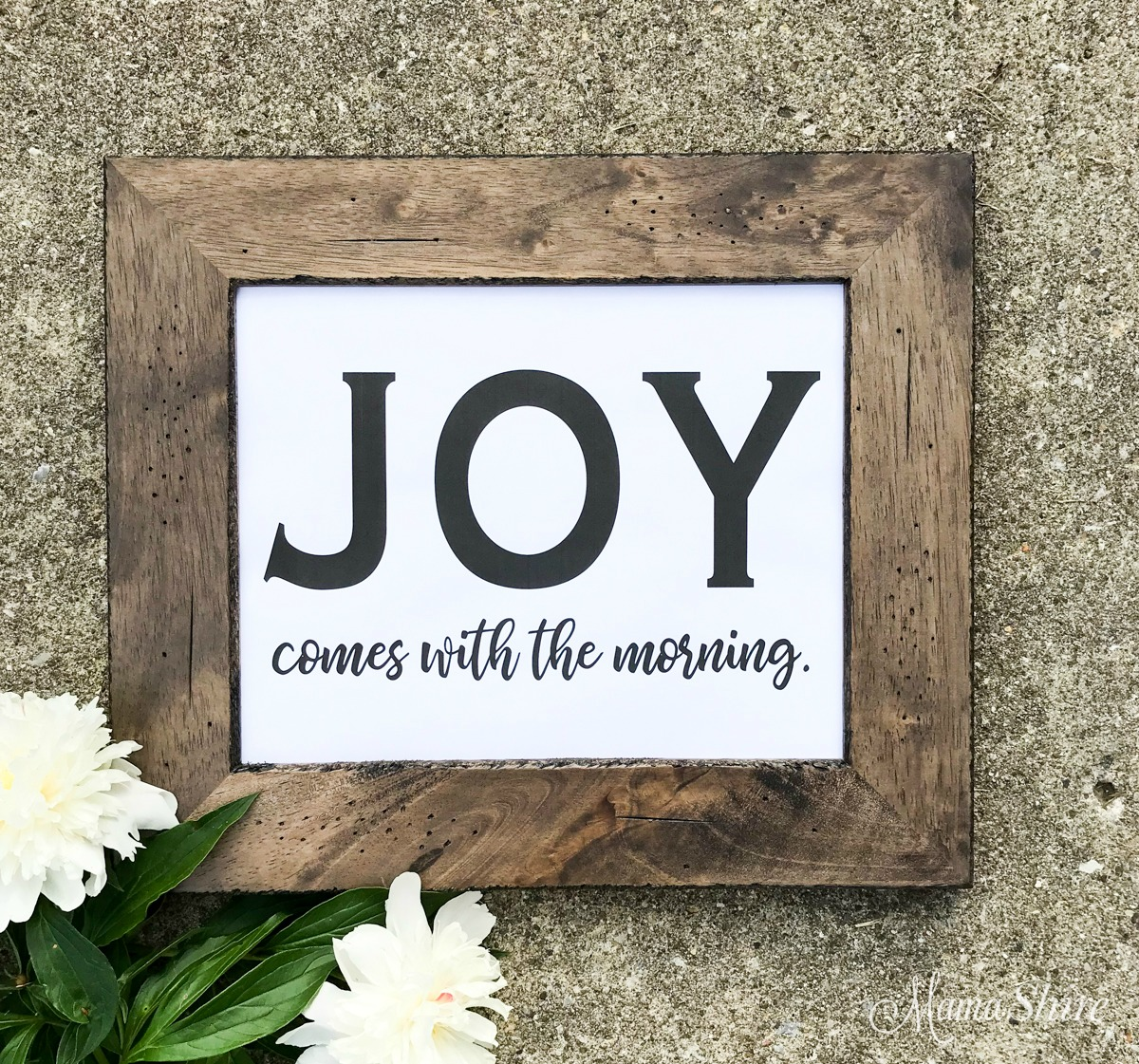 Printable PDF of Joy comes with the morning.