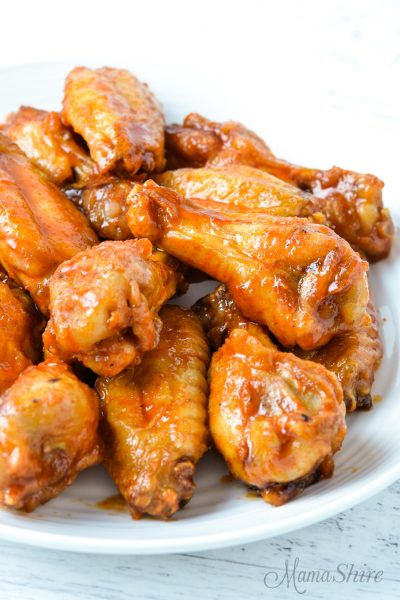 A plate of Gluten-Free Korean Air Fryer Chicken Wings
