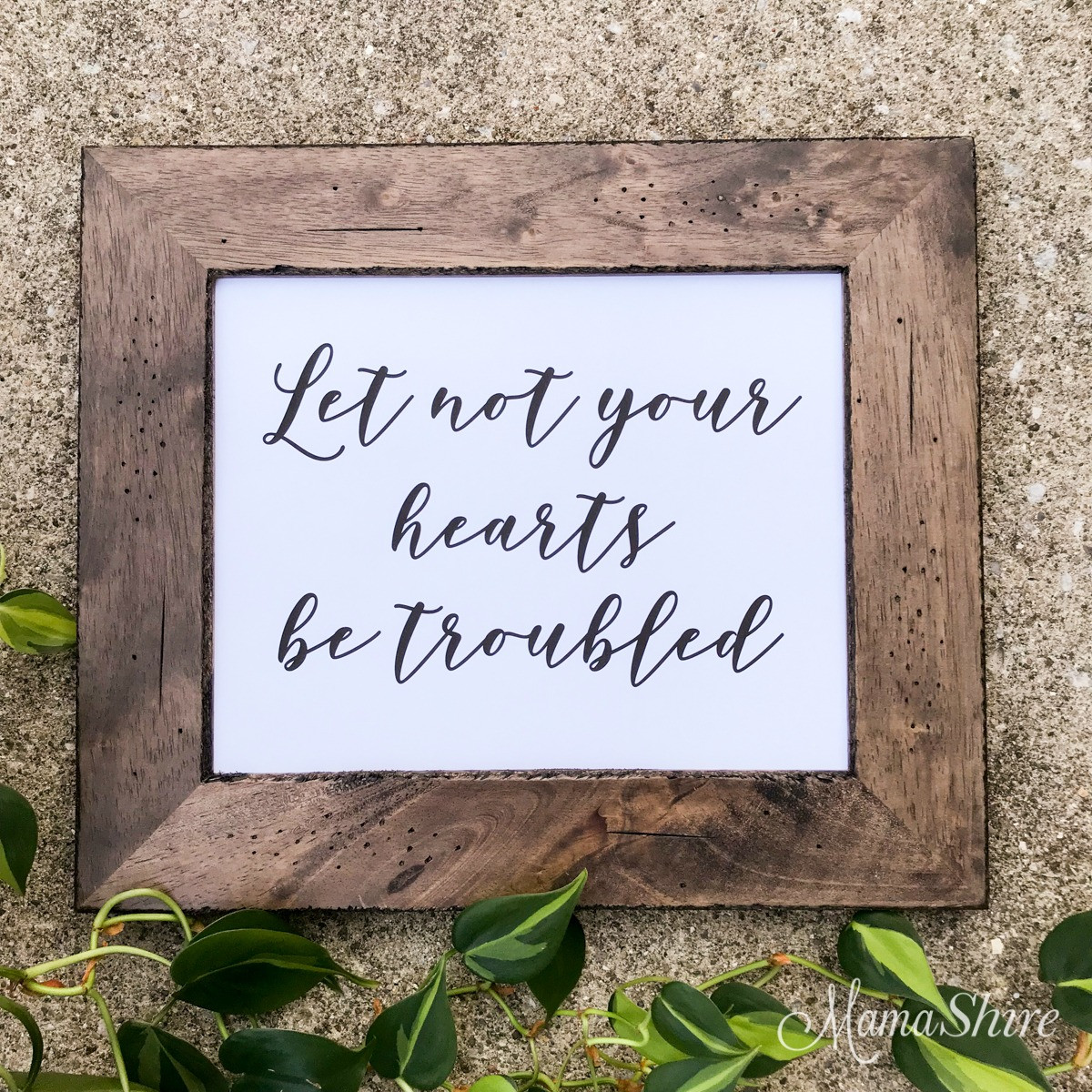 Bible Lettering Printable PDF of John 14:27 Let not your hearts be troubled.