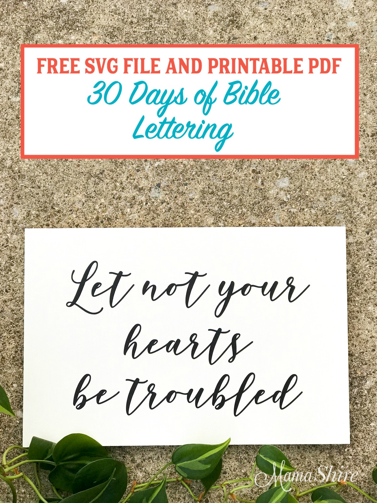 Let Not Your Hearts Be Troubled Bible Lettering Wood Sign