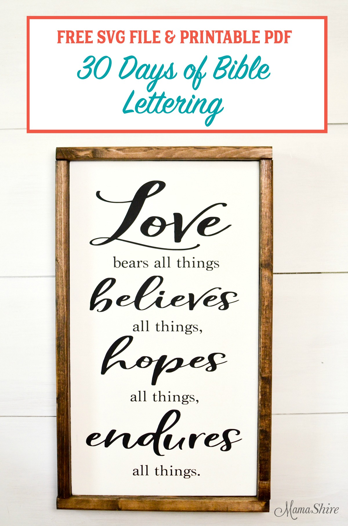 photograph relating to Free Printable Bible Verses Handwriting named Totally free Bible Verse SVG Document Printable #2 - MamaShire