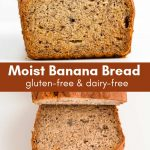 Gluten-free banana bread made with brown sugar.