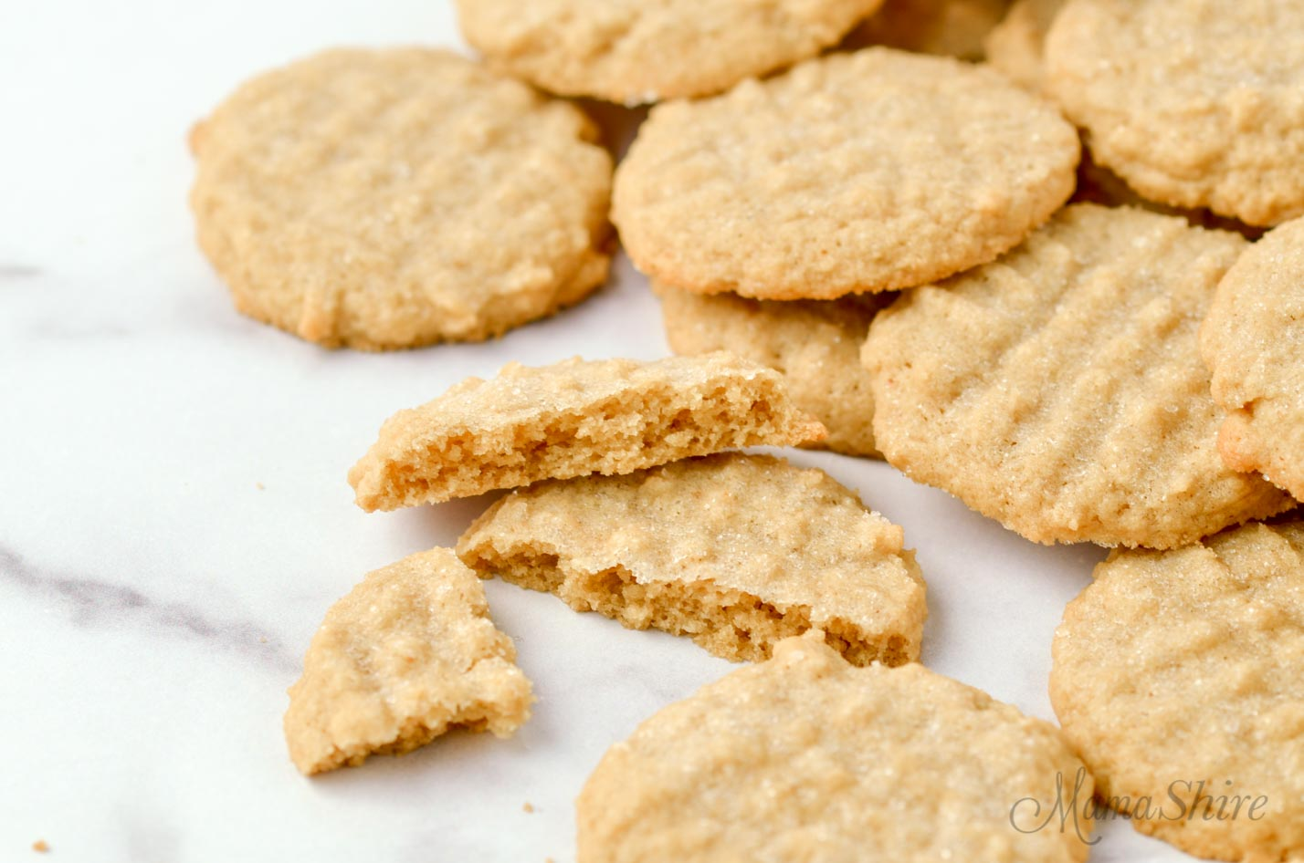 Freshly baked peanut butter cookies made with a gluten-free and dairy-free recipe.