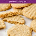 Old-fashioned peanut butter cookies made with a gluten-free and dairy-free recipe.