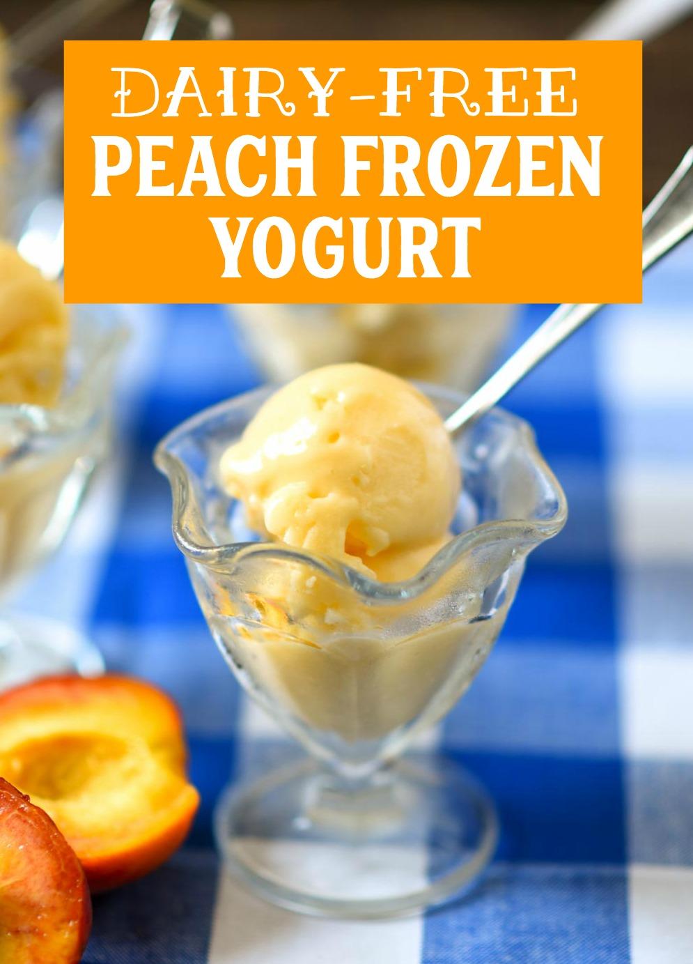 Dairy-Free Peach Frozen Yogurt