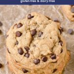 Gluten-free cookies with peanut butter and chocolate chips