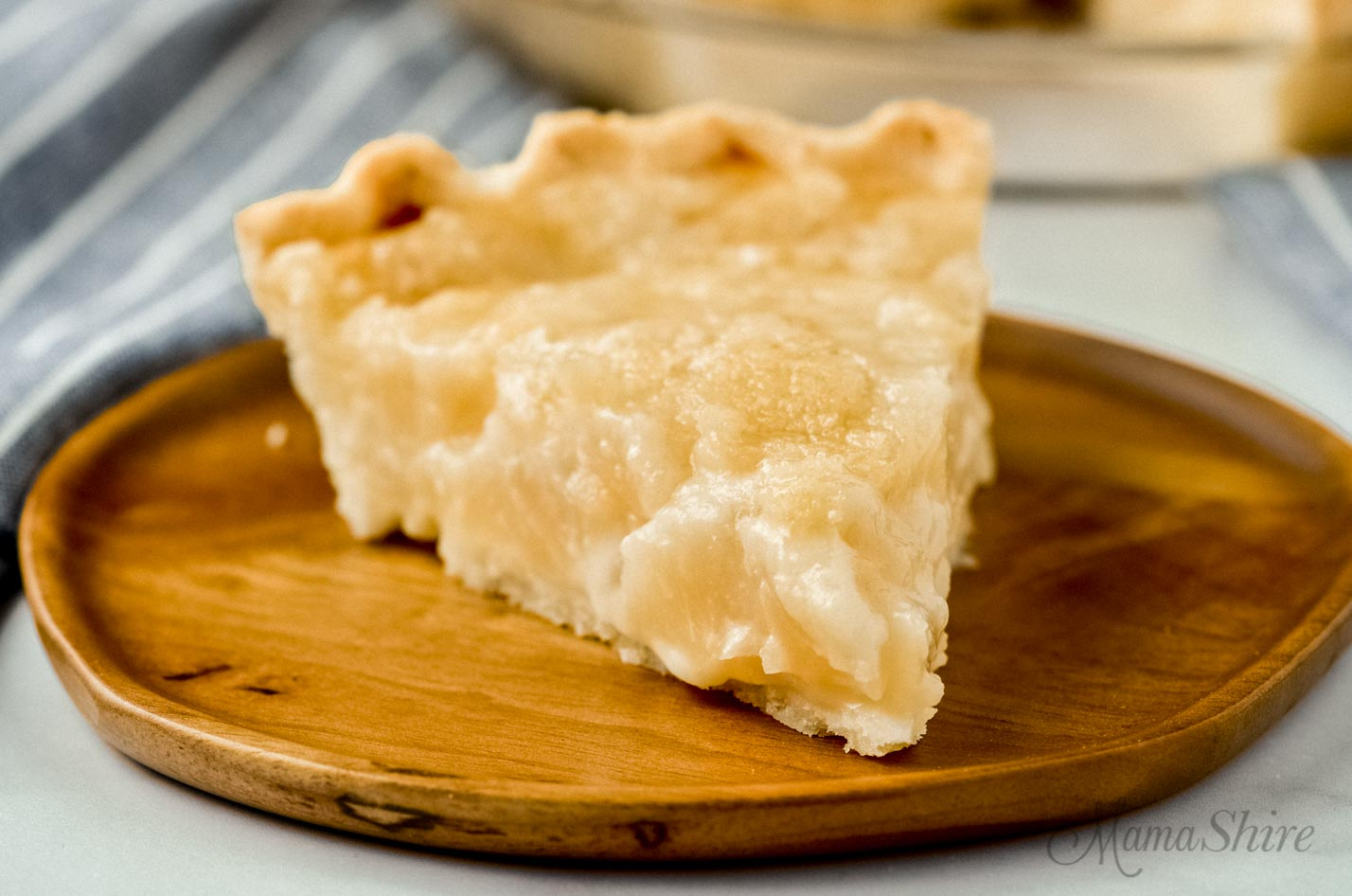 A single slice of gluten-free pear pie.