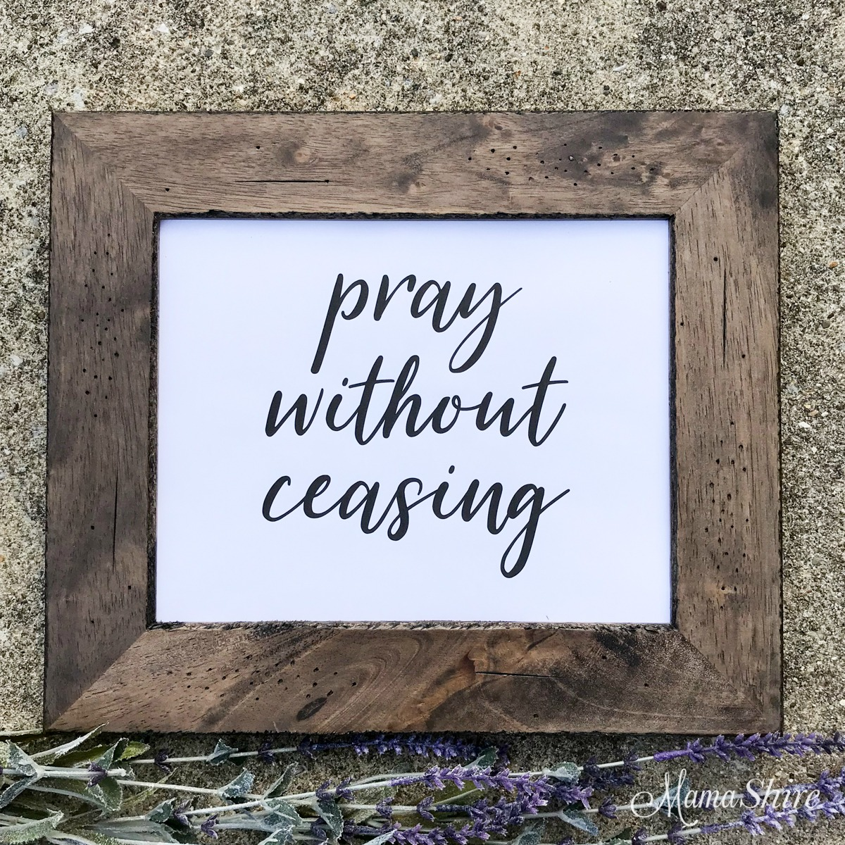 Pray without ceasing Printable PDF.