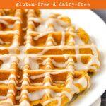 Gluten-free pumpkin spice waffle