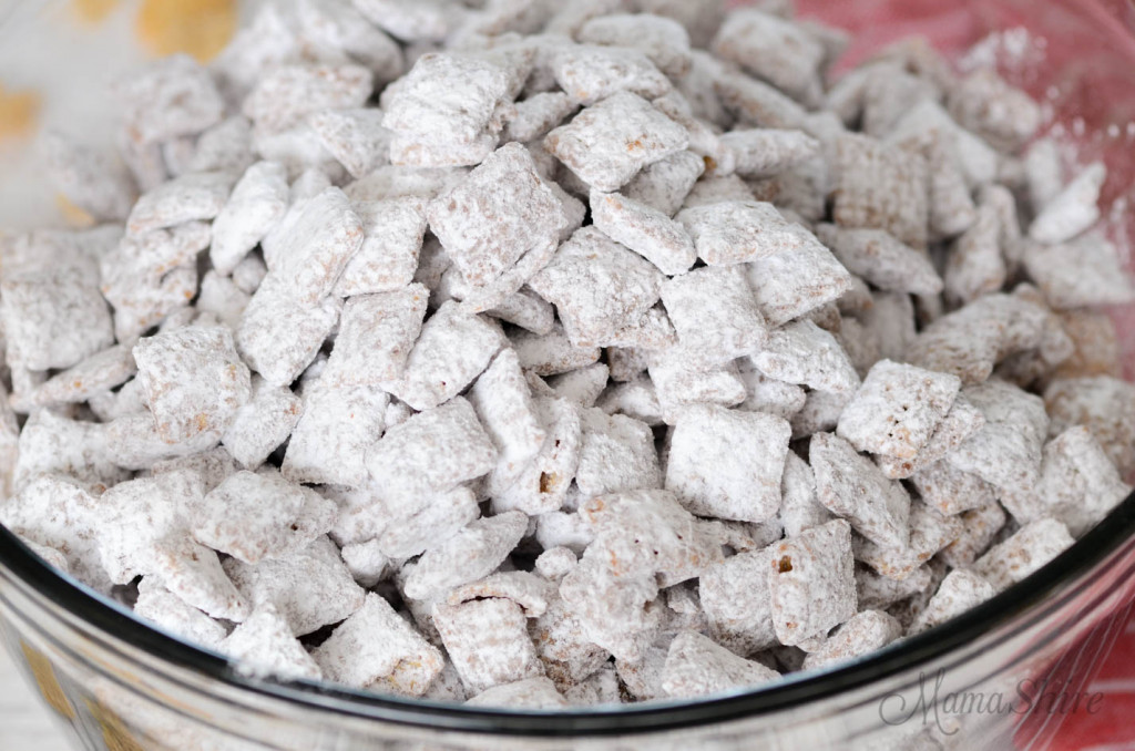 Powdered sugar covered puppy chow.