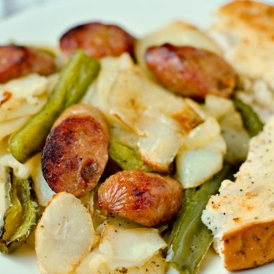 Easy Roasted Chicken Sausage and Potatoes (Gluten-Free)