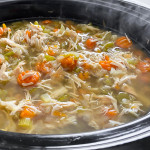 Slow cooker chicken soup.