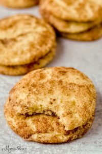 Gluten-free snickerdoodles with the classic sugar and cinnamon topping.