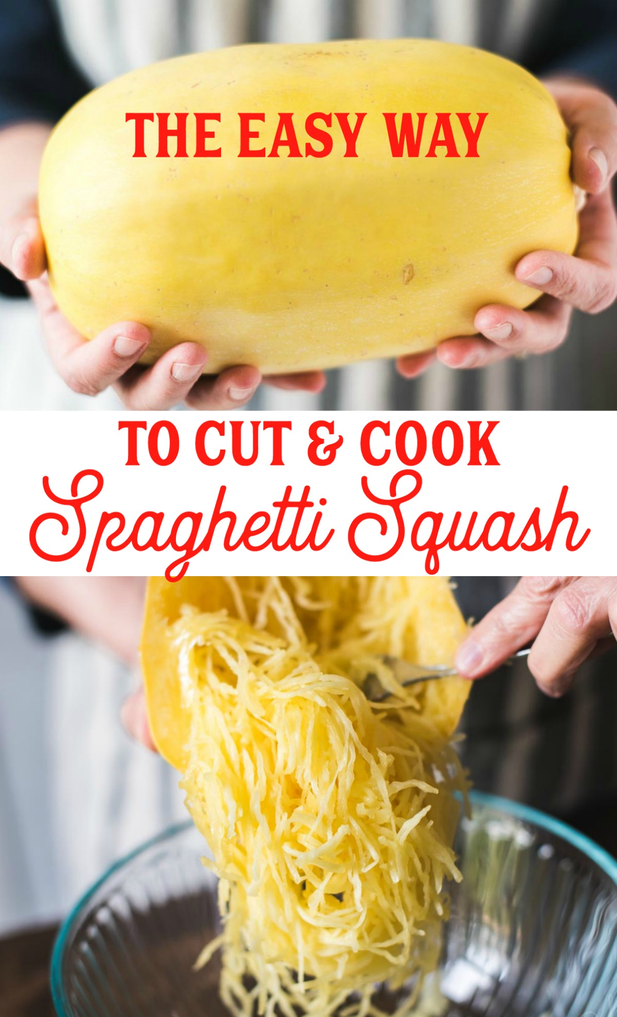 How to cut and cook spaghetti squash.