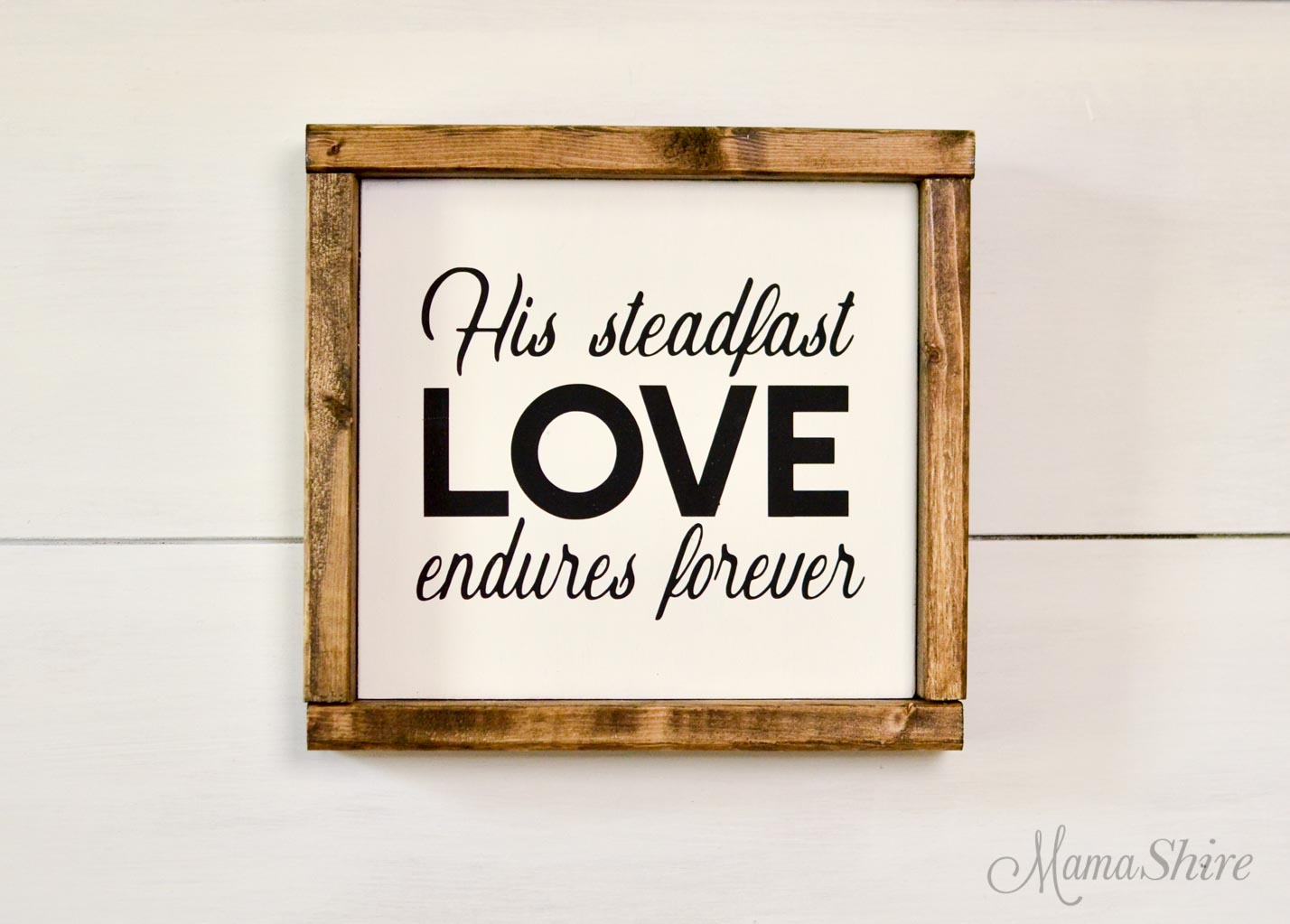 His Steadfast Love Endures Forever Free SVG cut file
