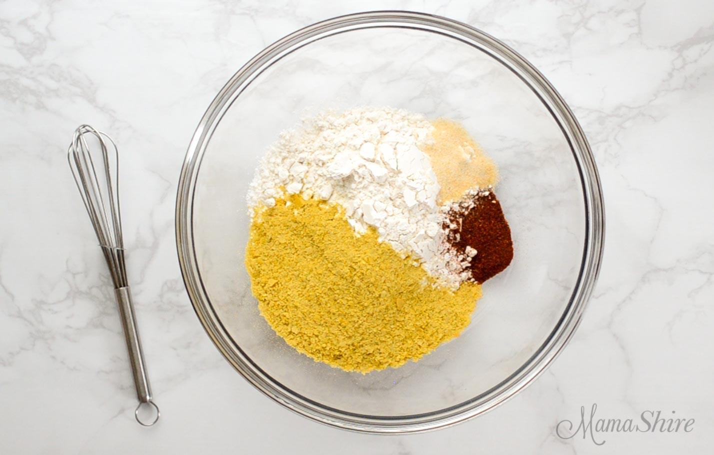 Gluten-free flour mix for air fryer chicken nuggets