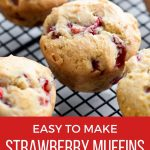 Gluten-free muffins with strawberries.