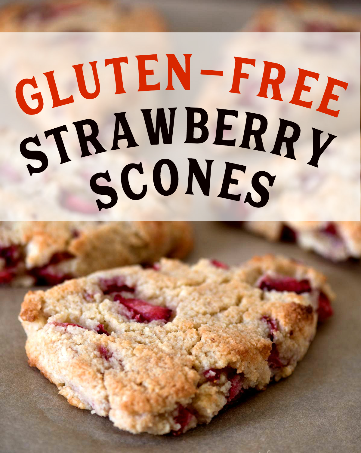 Delicious gluten-free strawberry scones.