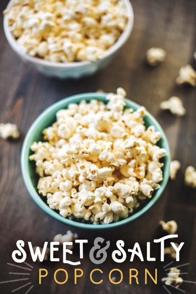 Sweet and salty popcorn made sugar free.