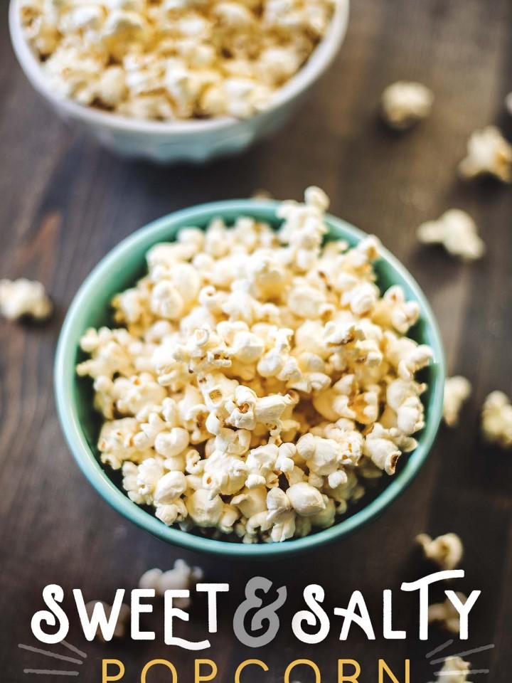 Sweet and salty popcorn made sugar free.