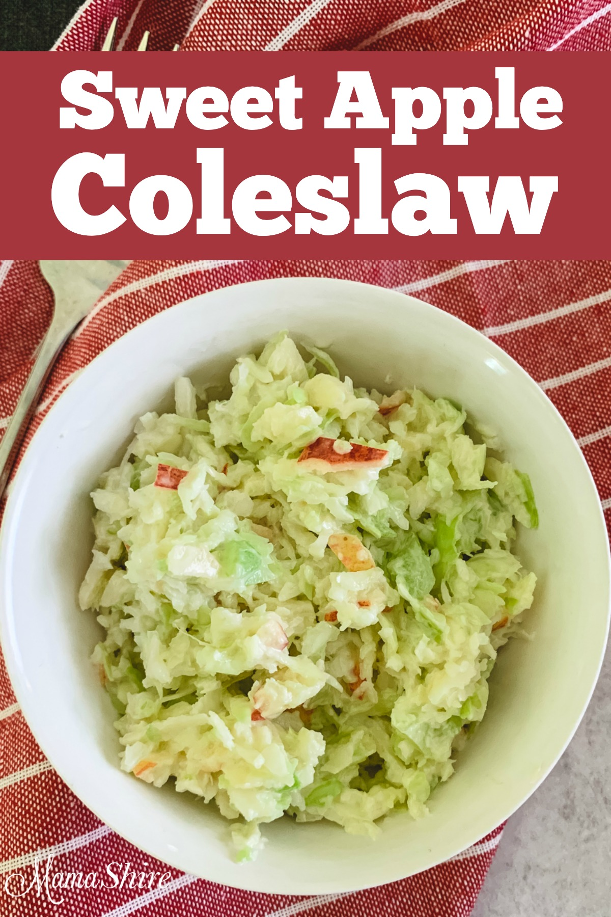 Sweet and tangy coleslaw in a single serve bowl.