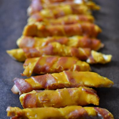 Sweet Mustard Bacon Chicken Strips