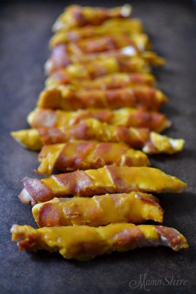 Sweet Mustard Bacon Chicken Strips