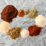 9 different seasonings that go into a homemade taco seasoning.