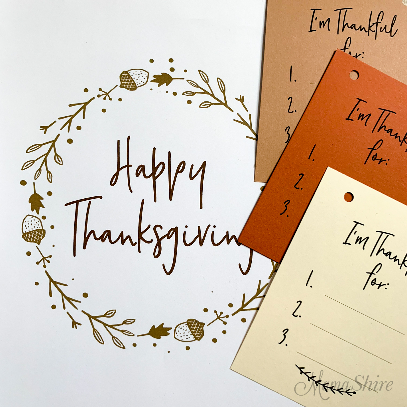 Happy Thanksgiving free printables.