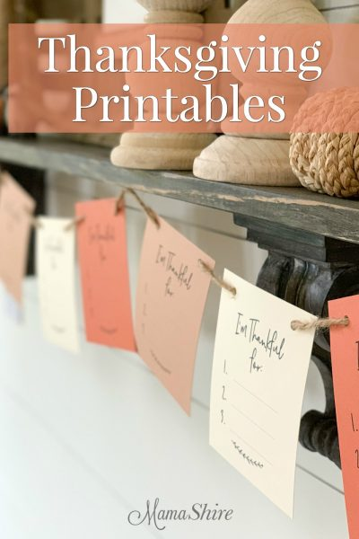 Free printable Thanksgiving garland.