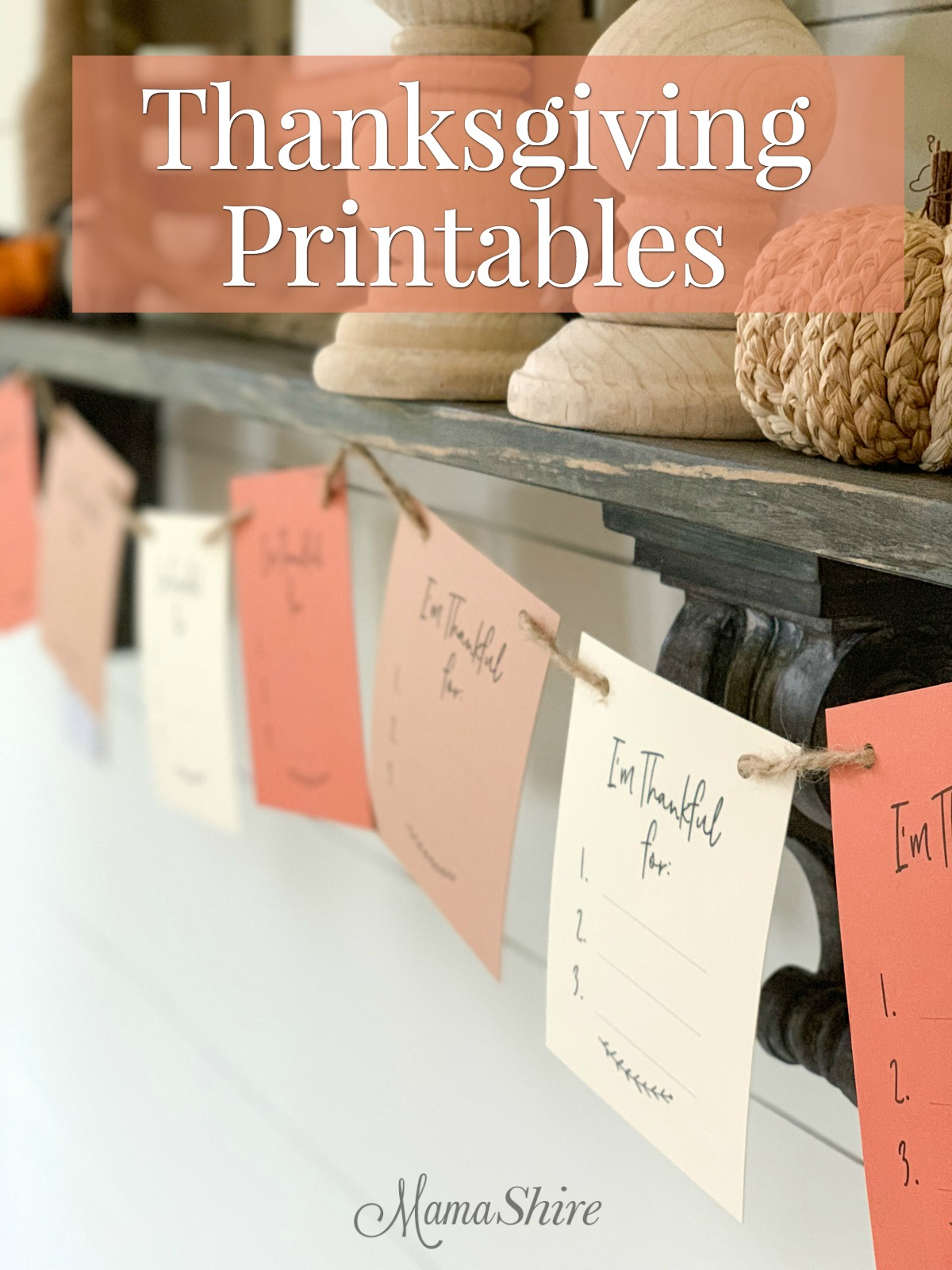 Free printable Thanksgiving garland.