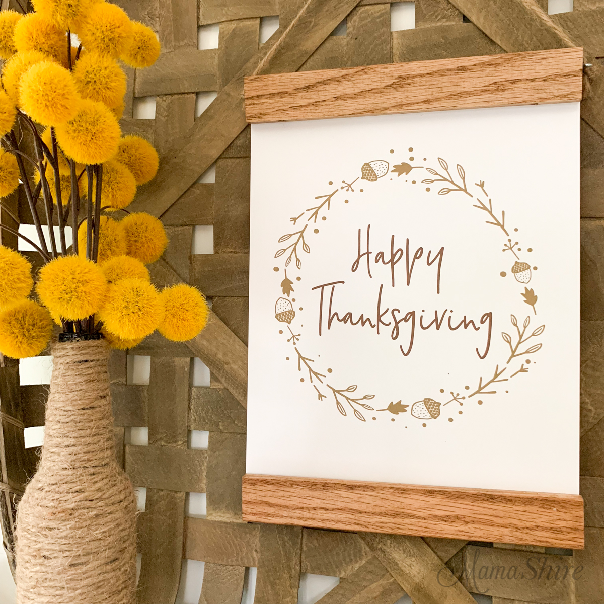 Happy Thanksgiving free printable.