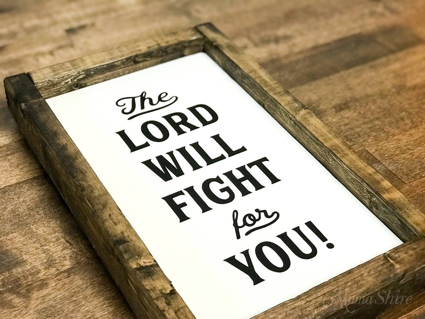 The Lord Will Fight For You Free SVG wood sign