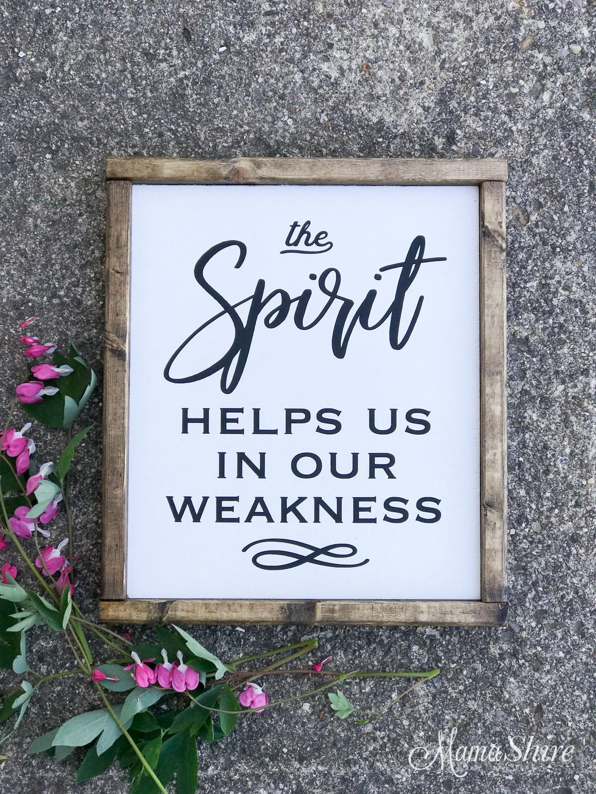 The Spirit helps us in our weakness.