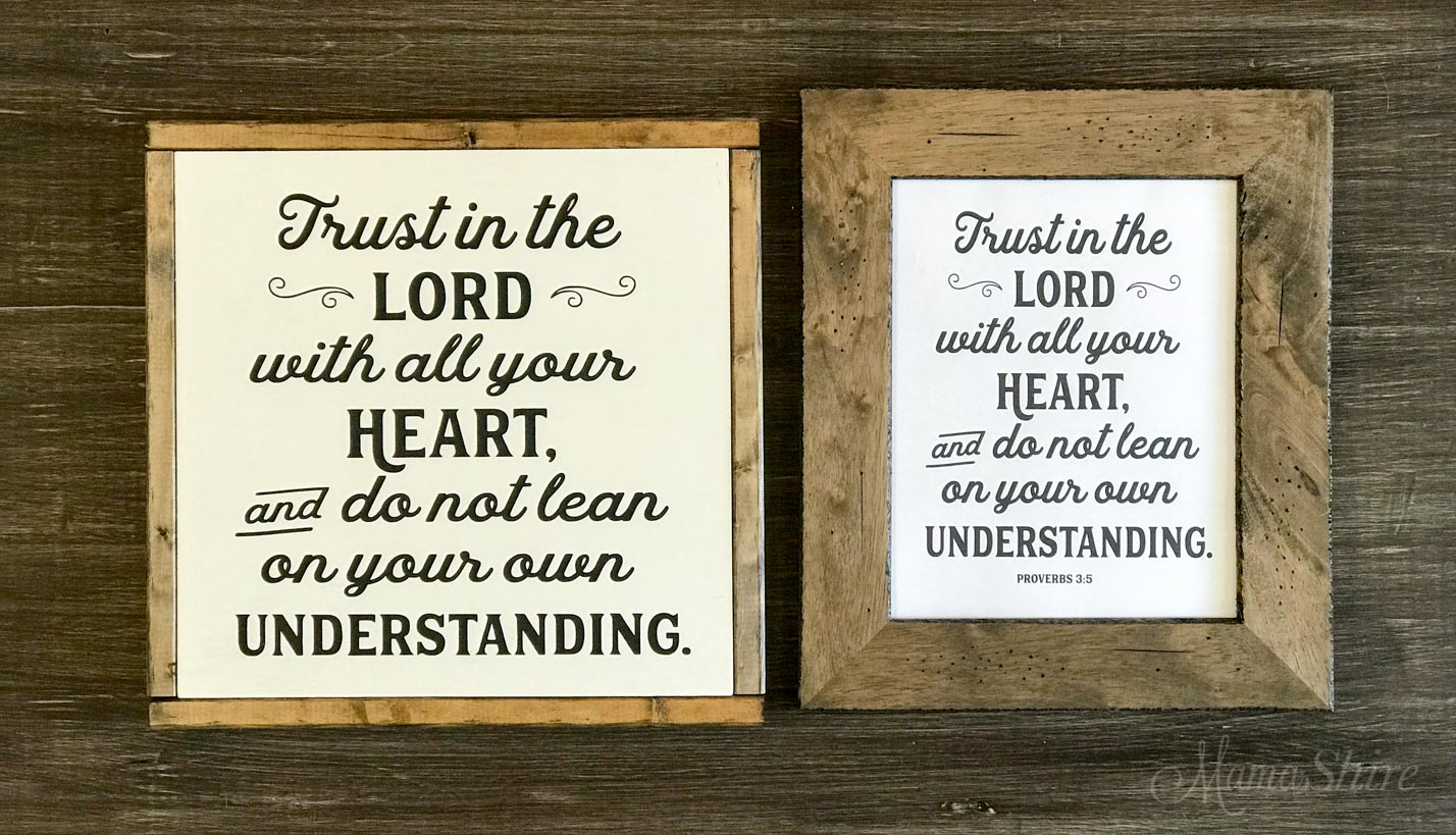 Trust in the LORD free SVG, DXF, and PDF printable.