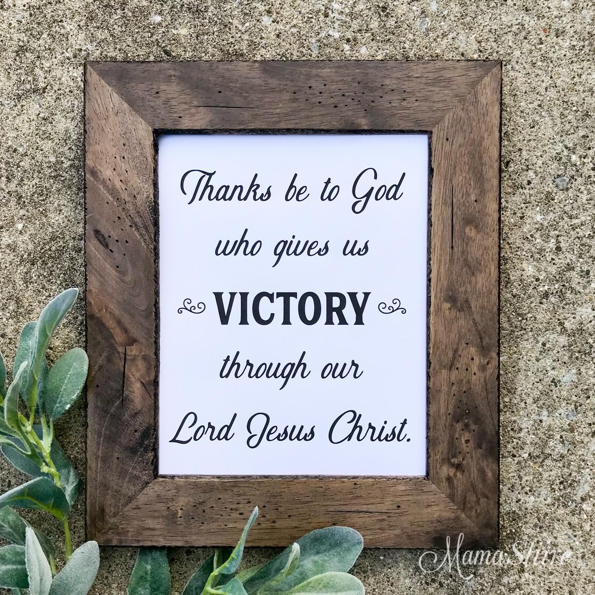 1 Corinthians 15:57 Printable PDF & Free SVG