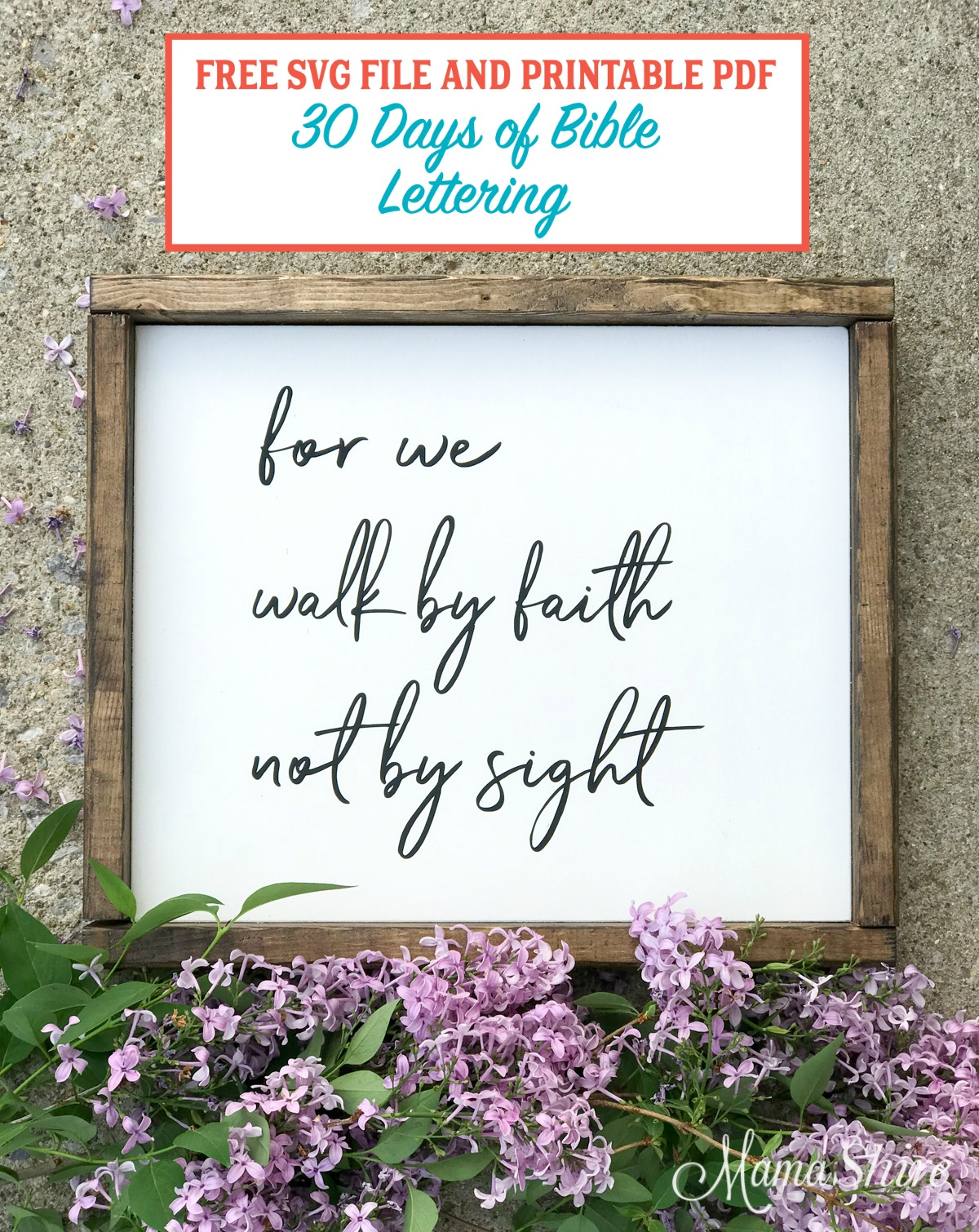 Walk By Faith, Not By Sight Free SVG, DXF, and printable PDF.